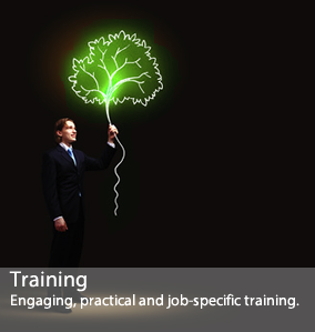 Engaging, practical and job-specific training.